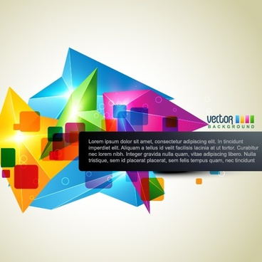 geometric background template sparkling colorful 3d decor