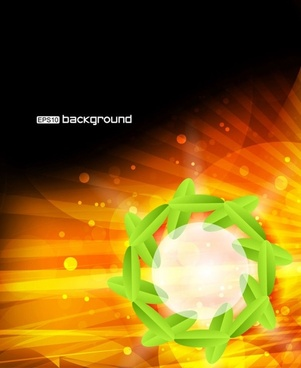 dynamic colorful leaf background 01 vector