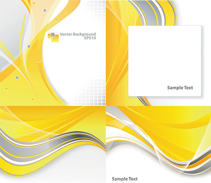 dynamic curves of the yellow background vector