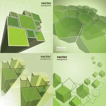 geometric background modern dynamic 3d green cubic polygon