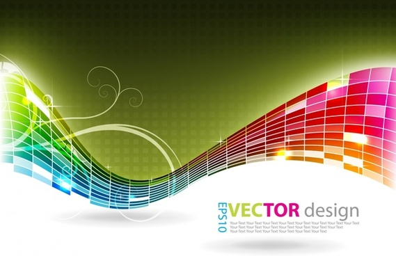decorative background colorful modern 3d waving dynamic design