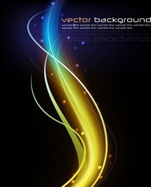 abstract background sparkling dynamic curved lights dark decor