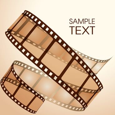 dynamic film art background vector