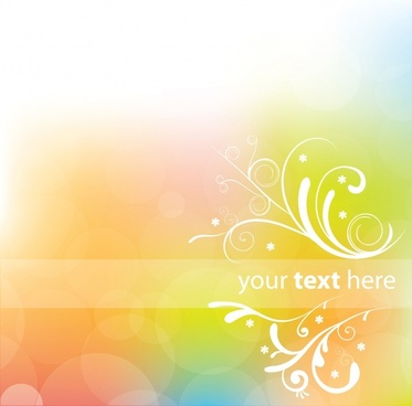 decorative background modern colorful bokeh curves decor