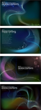 decorative light effect background template modern dark dynamic