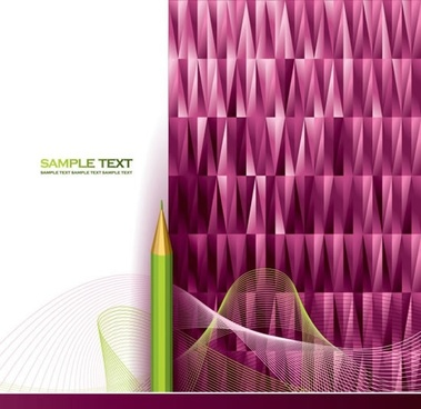 decorative background modern pencil dynamic 3d curves lowpolygon