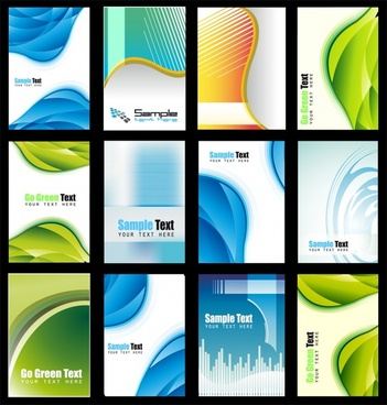 brochure templates modern colorful swirled decor