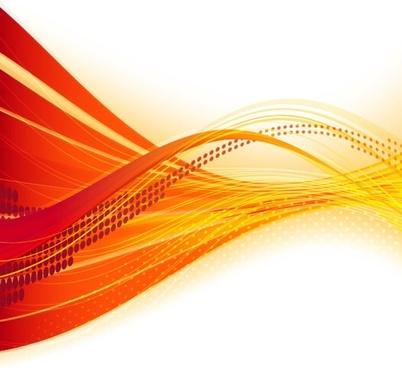 dynamic flow line bannervector