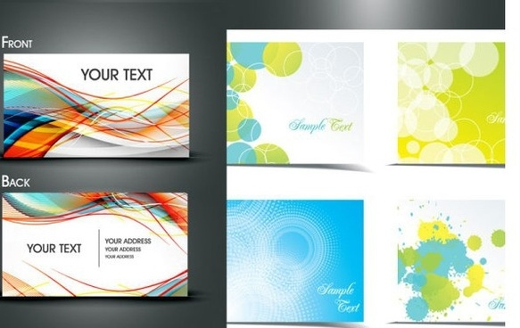 business card templates modern dynamic grunge blurred decor
