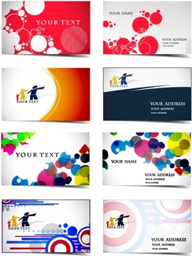 name card templates colorful circles community sketch