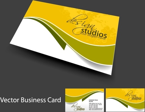 business card templates elegant flat swirled decor