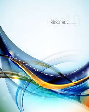 dynamic flow line gorgeous background 04 vector