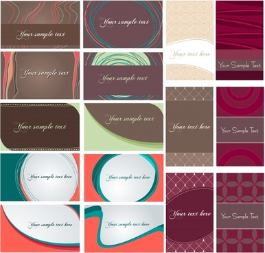dynamic flow line pattern card vector