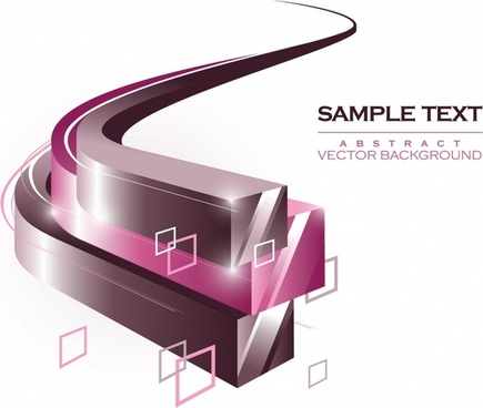 technology background template modern shiny 3d squared curves