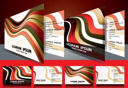 business card background templates colorful dynamic curves decor