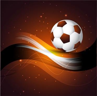 dynamic football 01 vector