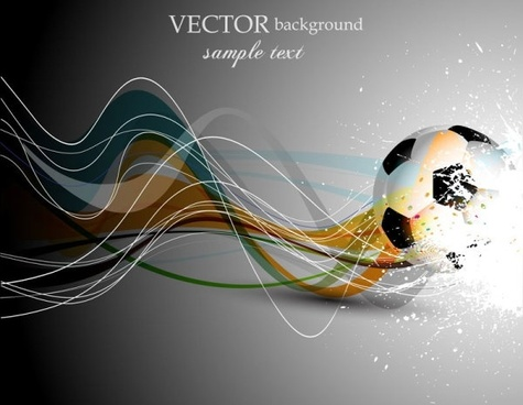 dynamic football 04 vector