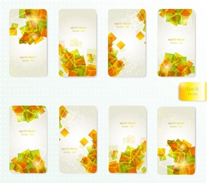 dynamic gorgeous card background 01 vector