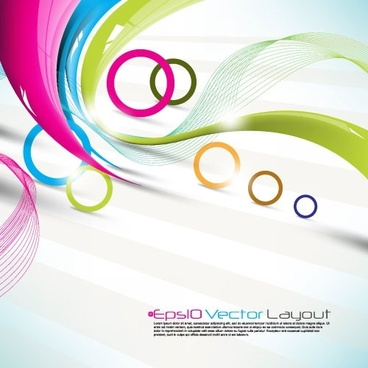 dynamic halo background 02 vector