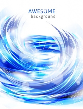 decorative background bokeh blue white dynamic vortex decor