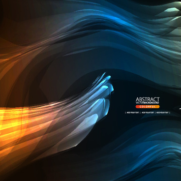 dynamic light backgrounds art vector set