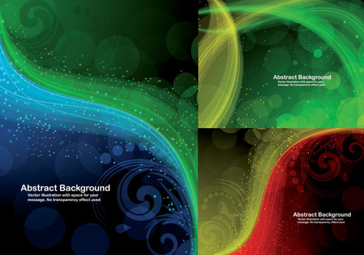 dynamic light decorative pattern background vector