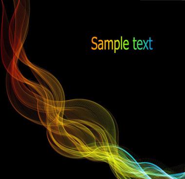 dynamic light lines vector background set