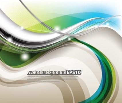 dynamic light wave background vectors