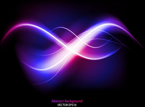 dynamic light waves vector background