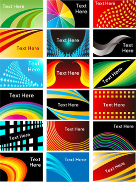 dynamic line card vector graphic