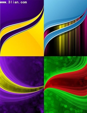 decorative background templates colorful dynamic curves decor
