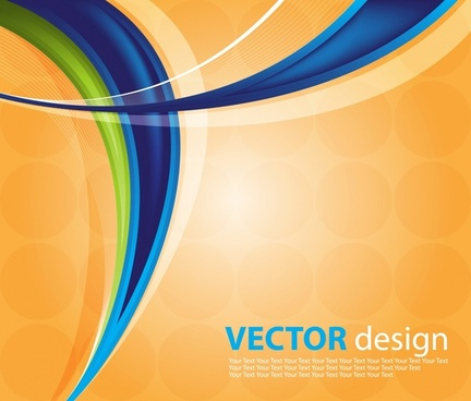 abstract background modern colorful dynamic curves ornament