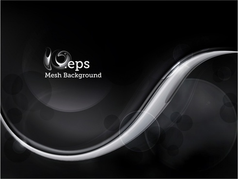 decorative background black white curves modern dynamic design