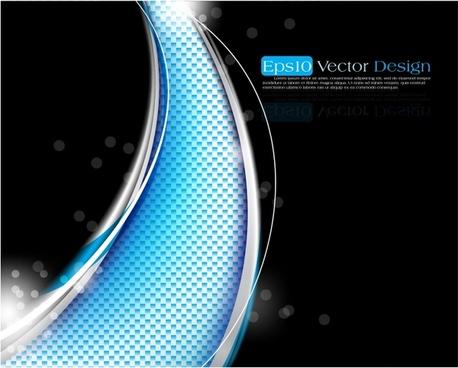 technology background modern shining bokeh contrast curves decor