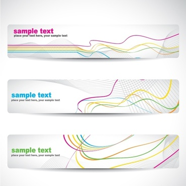 dynamic lines background vector banner banner