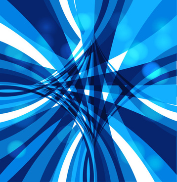 dynamic lines blue abstract vector background
