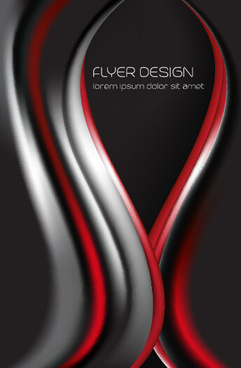 dynamic lines flyer cover vector set