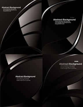 dynamic lines of a black background vector
