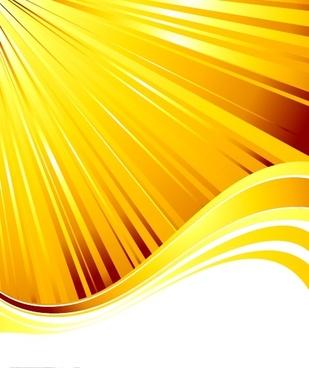 decorative background dynamic yellow bright rays waves decor