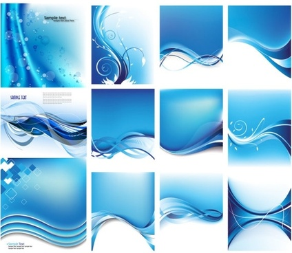 dynamic lines of the blue background vector