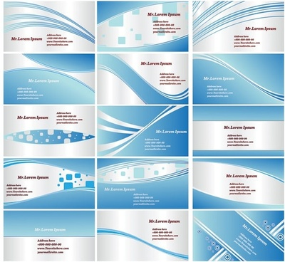 dynamic lines of the blue card background vector