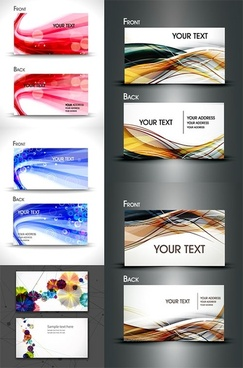 dynamic lines of the card background vector