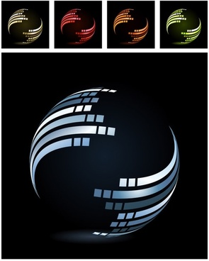 dynamic lines of the symphony ball vector