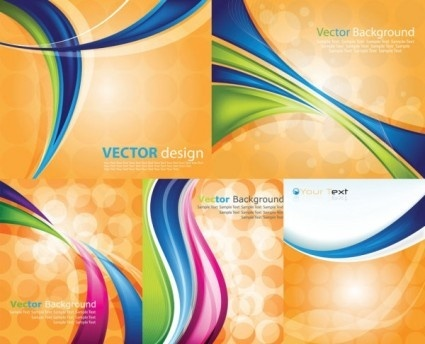 dynamic lines with yellow background vector
