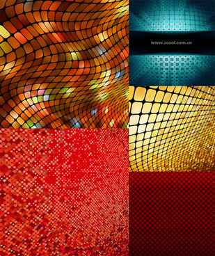 dynamic mosaic background vector graphic