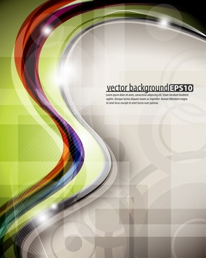 dynamic multicolored abstract elements vector