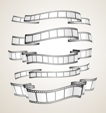 film festive design elements filmstrips sketch 3d design