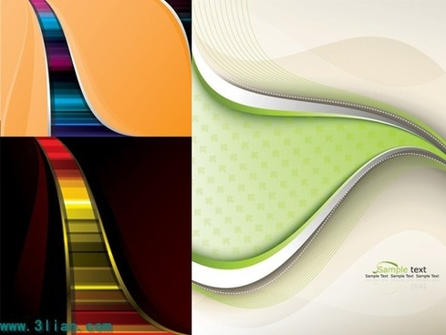abstract background templates colorful dynamic curves ornament