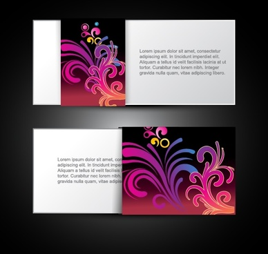 card templates elegant colorful floral decor