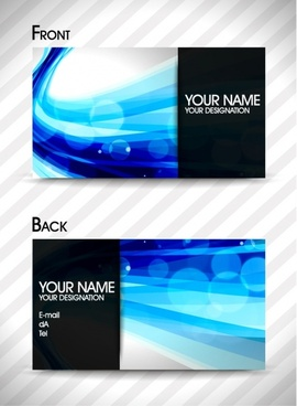 business card templates modern abstract bokeh dynamic decor